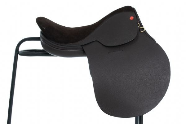 Handmade English Leather and Suede seat Polo Saddle